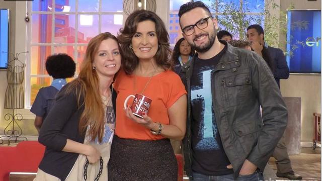 Vanessa, Fátima Bernardes e Fábio Ori (Foto: Gshow)
