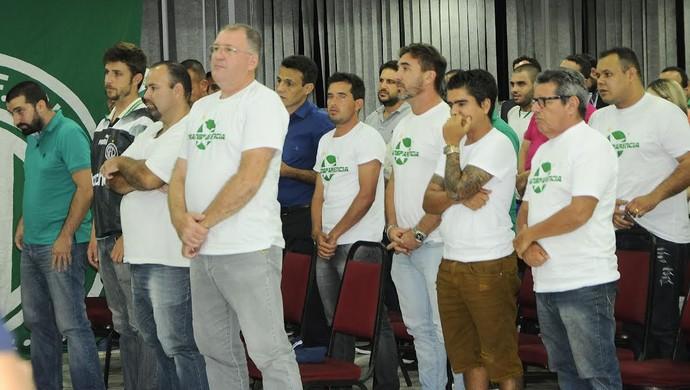 Chapa oposição Guarani Odair Paes Júnior candidato (Foto: Deivid Henrique)
