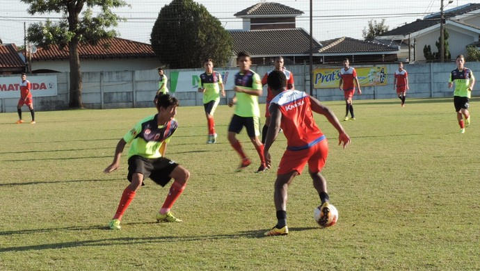 Treino do Grêmio Prudente (Foto: Ronaldo Nascimento / GloboEsporte.com)