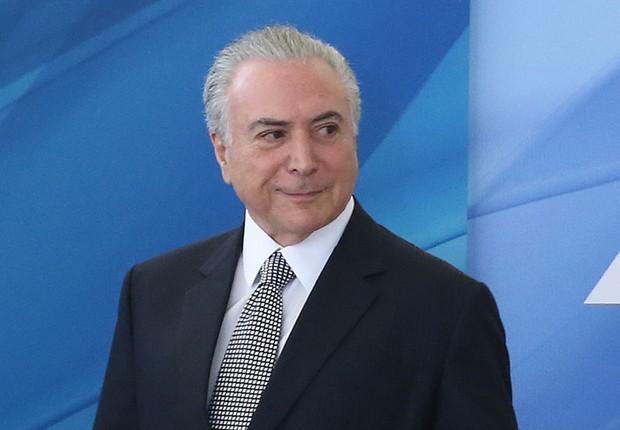 O presidente Michel Temer durante cerimônia no Palácio do Planalto (Foto: Antonio Cruz/Agência Brasil)