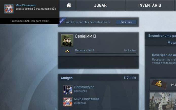 Veja as solicitações na tela do Steam (Foto: Reprodução/Murilo Molina)