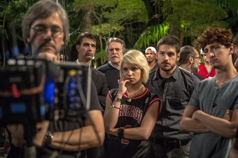 Parte da equipe de A regra do jogo (Foto: Renato Rocha Miranda/TV Globo)