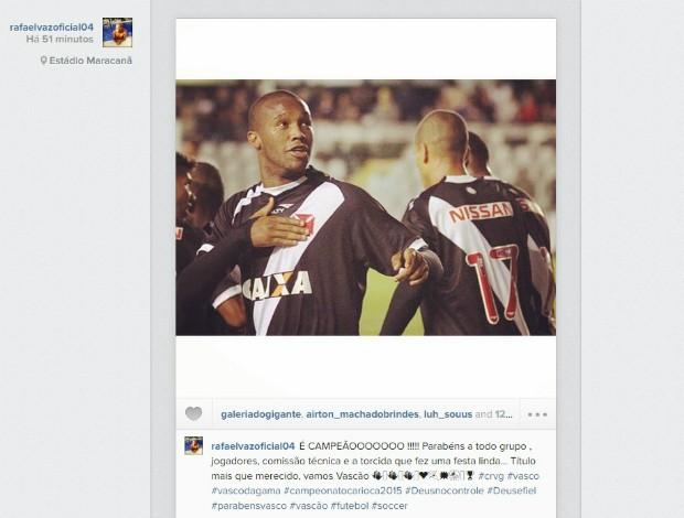 Instagram Rafael Vaz, vasco