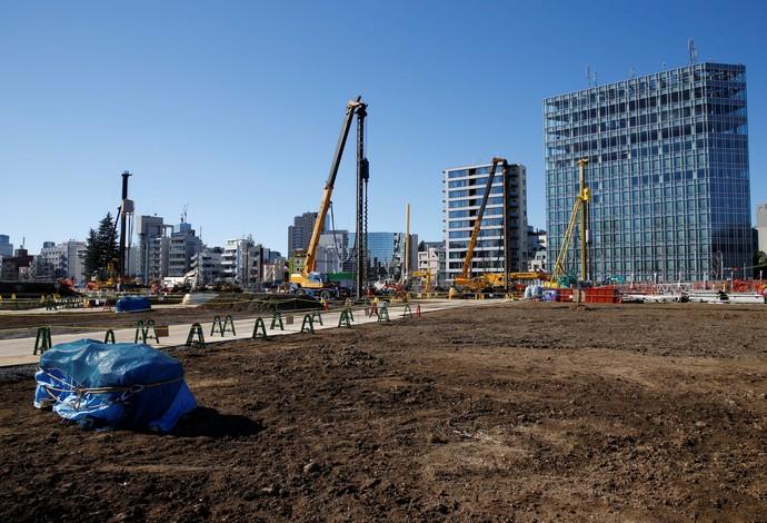 obra estádio olímpico tóquio 2020 (Foto: Reuters)