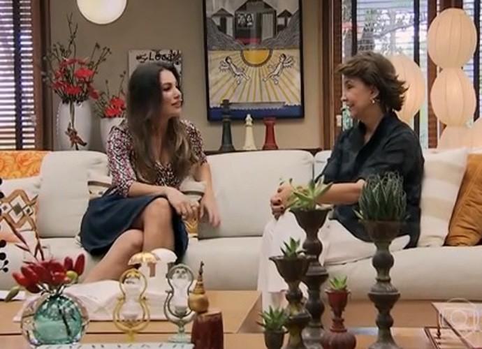 Patricia poeta e Monica Lobo conversam no E de Casa (Foto: TV Globo)