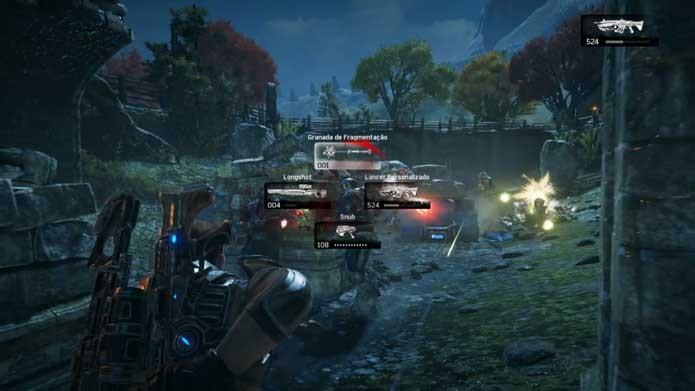 Apele para granadas em Gears of War 4 (Foto: Reprodução/Murilo Molina)