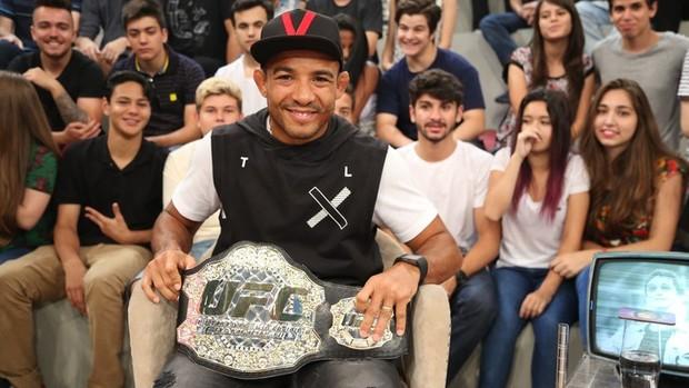 José Aldo Junior fala sobre a carreira no Altas Horas (divulgação)