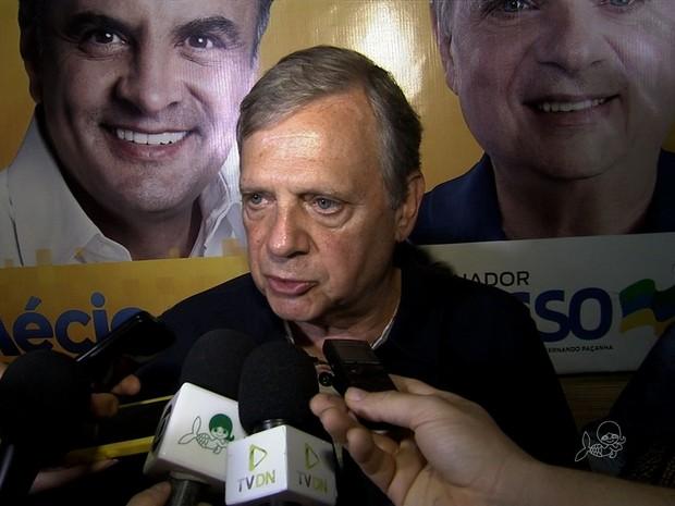 Tasso Jereissati ressalta receptividade (Foto: TV Verdes Mares/Reproducao)
