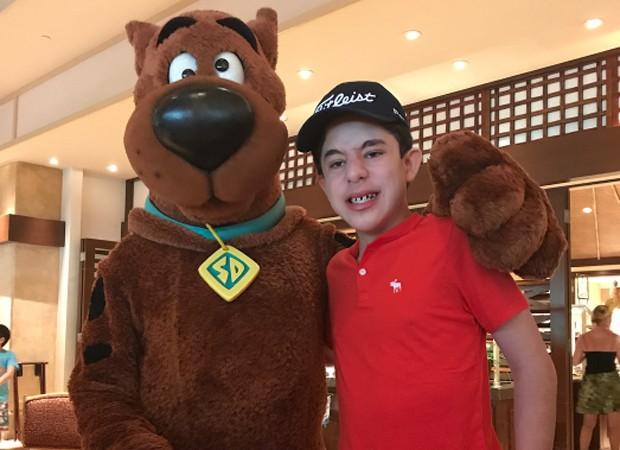 Romeo e Scooby Doo (Foto: Reprodução/Instagram)