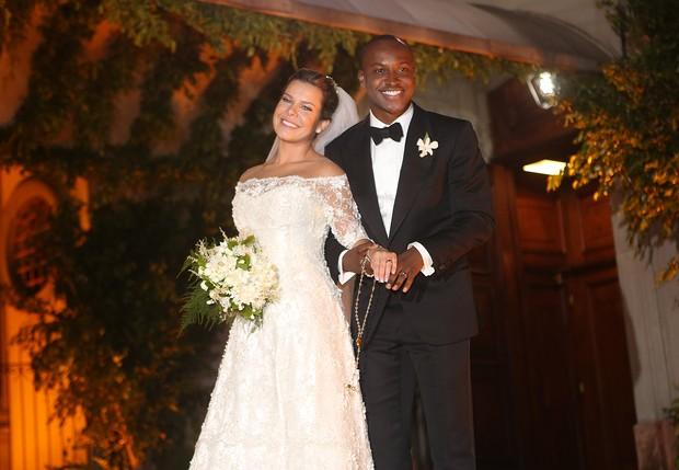 Casamento de Fernanda Souza e Thiaguinho (Foto: Iwi Onodera / Ego)