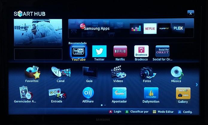 Acesse as funções e aplicativos na Smart TV usando a internet (Foto: Reprodução/Barbara Mannara)