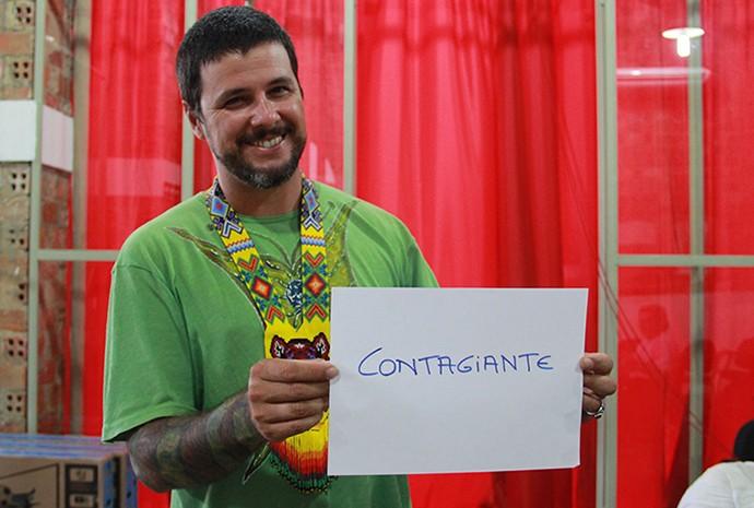 Salomão Rossi, do Cordão do Marambaia (Foto: Katiúscia Monteiro/ Rede Amazônica)