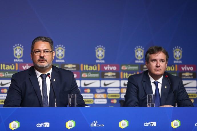 Rogério Micale e o Coordenador de Seleção de base Erasmo Damiani  (Foto:  Lucas Figueiredo / MoWA Press)