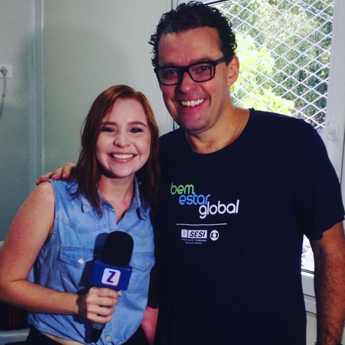 Jéssica Monteiroconversa com Fernando Rocha (Foto: Arquivo Pessoal)