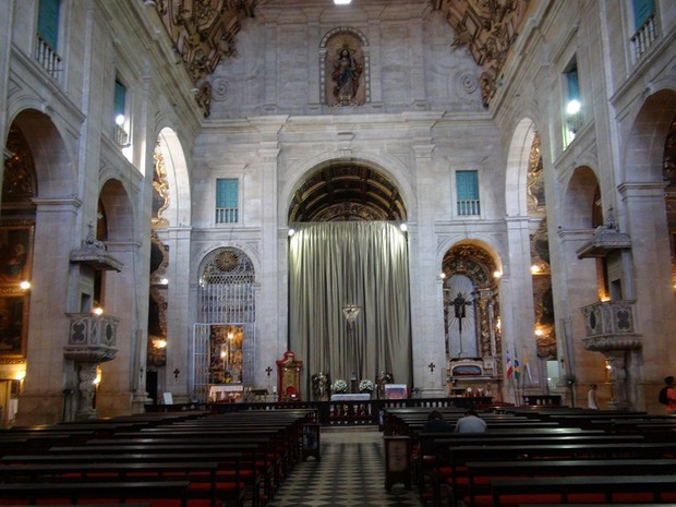 Catedral Primacial Basílica de Salvador (Foto: Henrique Mendes/G1)