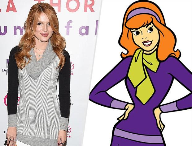 Bella Thorne e Daphne de 'Scooby Doo' (Foto: Reprodução/People)