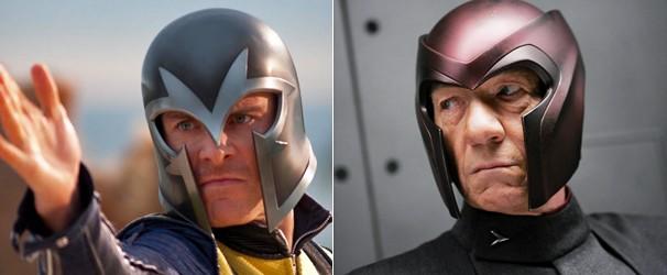 Michael Fassbender e Ian McKellen dão vida a Magneto (Foto: Divulgação/Reprodução)