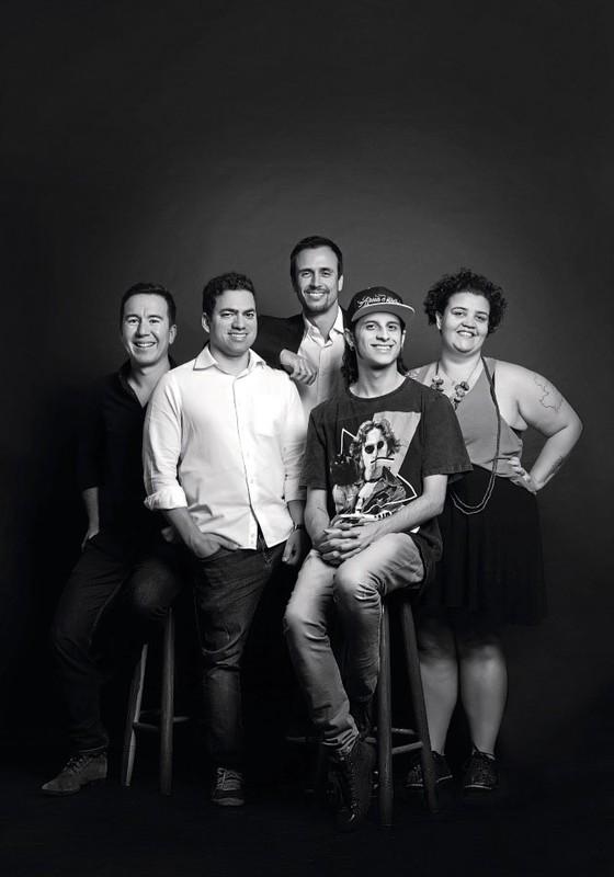 Leandro Machado,José Lyra,Marcelo Issa,Warley Alves e Mariana Belmont representantes de grupos de renovação da política. (Foto:  Julia Rodrigues/ÉPOCA)