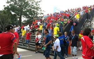 Maracanã - pacotão do estádio - Chile x Espanha (Foto: Cintia Barlem)