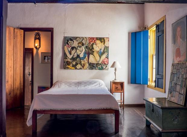 quarto-quadro-janela-madeira (Foto: Lufe Gomes/Life by Lufe)