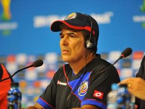 Jorge Luis Pinto coletiva da Costa Rica (Foto: Aldo Carneiro / Pernambuco Press)