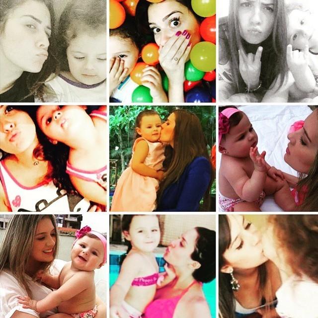 Tamires posta fotos com a filha (Foto: Instagram)