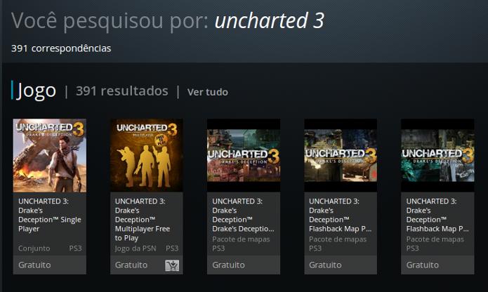 Uncharted 3 pode hoje ser encontrado de forma gratuita na PSN. (Foto: Reprodução/ Emanuel Schimidt)