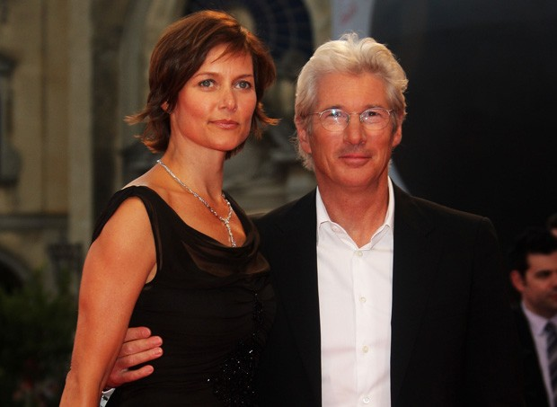 O ex-casal Carey Lowell e Richard gere (Foto: Pascal Le Segretain/Getty Images)
