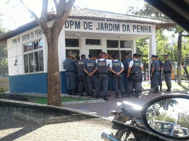 DPM de Jardim da Penha, com policiais (Foto: Divulgação/ Sesp)