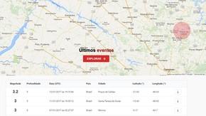 Observatório da UNB registra tremor de terra em Poços de Caldas (Foto: Reprodução/ Observatório UNB)