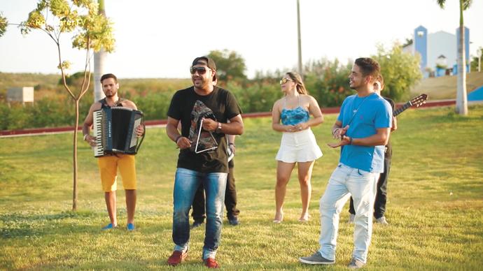 Banda Saia Rodada no Rota Inter TV (Foto: Sérgio Luis / Divulgação)