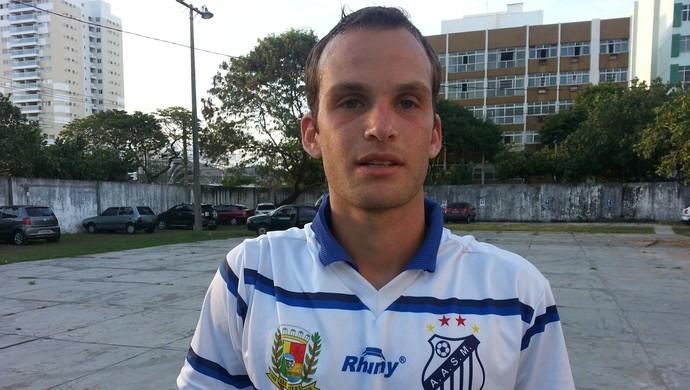 Felipe Almeida, zagueiro do São Mateus (Foto: Richard Pinheiro/GloboEsporte.com)