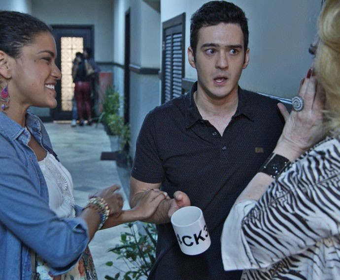 Norberto fica confuso com a situação (Foto: TV Globo)