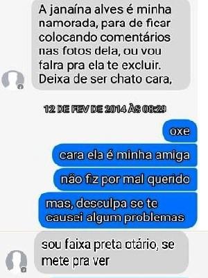Amigo de vítima relata ameaças sofridas por rede social (Foto: Reprodução/Facebook)