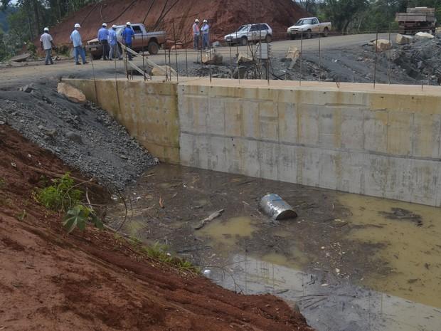 Área inundada após rompimento de barreira no Amapá (Foto: John Pacheco/G1)