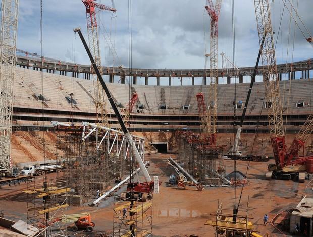 Estádio Mané Garrincha obras (Foto: Mary Leal)