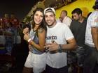 Ex-BBBs Fran e Junior curtem o Desfile das Campeãs juntos, no Rio