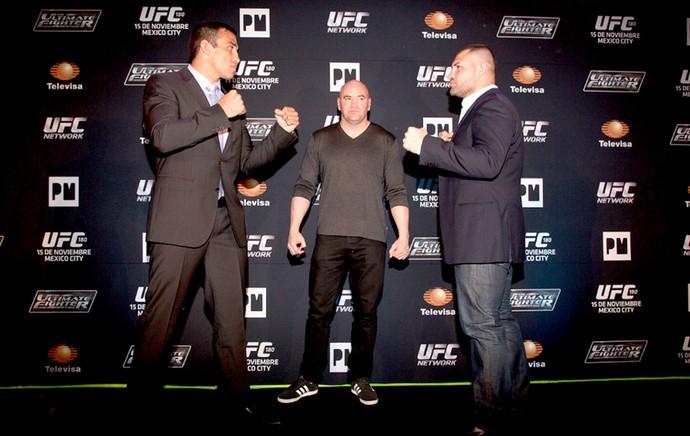 Fabricio Werdum e Cain Velasquez encarada UFC (Foto: Reprodução / Twitter)