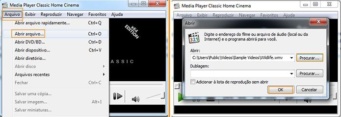 Abra o vídeo no Media Player Classic (Foto: Reprodução/Barbara Mannara)