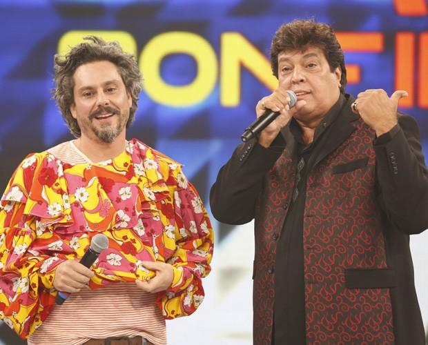 Alexandre Nero relembrou banda da juventude (Foto: Ellen Soares / Tv Globo)