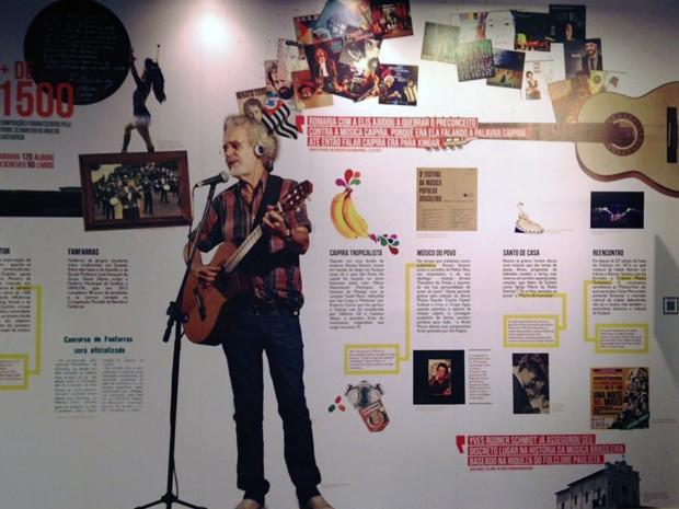 Paineis mostram história da música popular em Taubaté (Foto: Divulgação/ Almanaque Urupês)