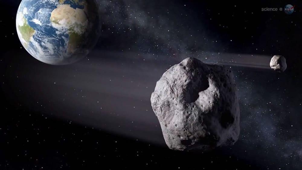 Concepção artística de um asteroide semelhante a Florence (Foto: ESA/NASA)