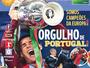 """Capas de jornais portugueses exaltam orgulho por título """"épico"""" da Eurocopa"""