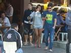 Yanna Lavigne e Bruno Gissoni almoçam juntos no Rio