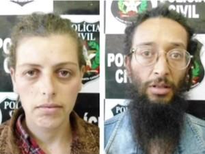 Casal foi preso em 3 de agosto após morte da filha (Foto: Reprodução/RBS TV)