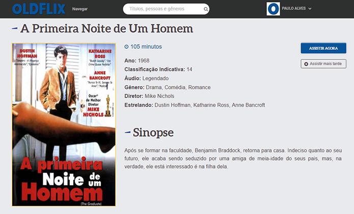Site reproduz filmes direto no navegador por streaming (Foto: Reprodução/Paulo Alves)