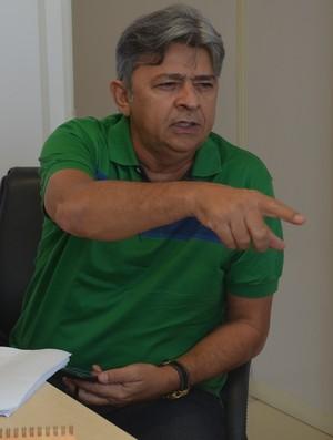 Aldeone Abrantes, presidente do Sousa (Foto: Hévilla Wanderley / GloboEsporte.com/pb)