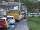 Obras deixam trânsito travado na Avenida Suburbana, em Salvador