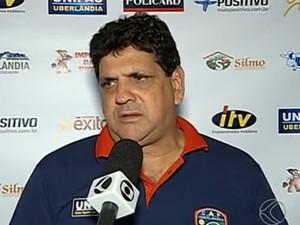 Luís Eduardo, técnico, Portal, Uberlândia (Foto: Reprodução/TV Integração)
