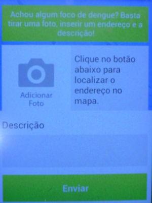 Aplicativo 'antidengue' em Águas de São Pedro (Foto: Alessandro Meirelles/G1)